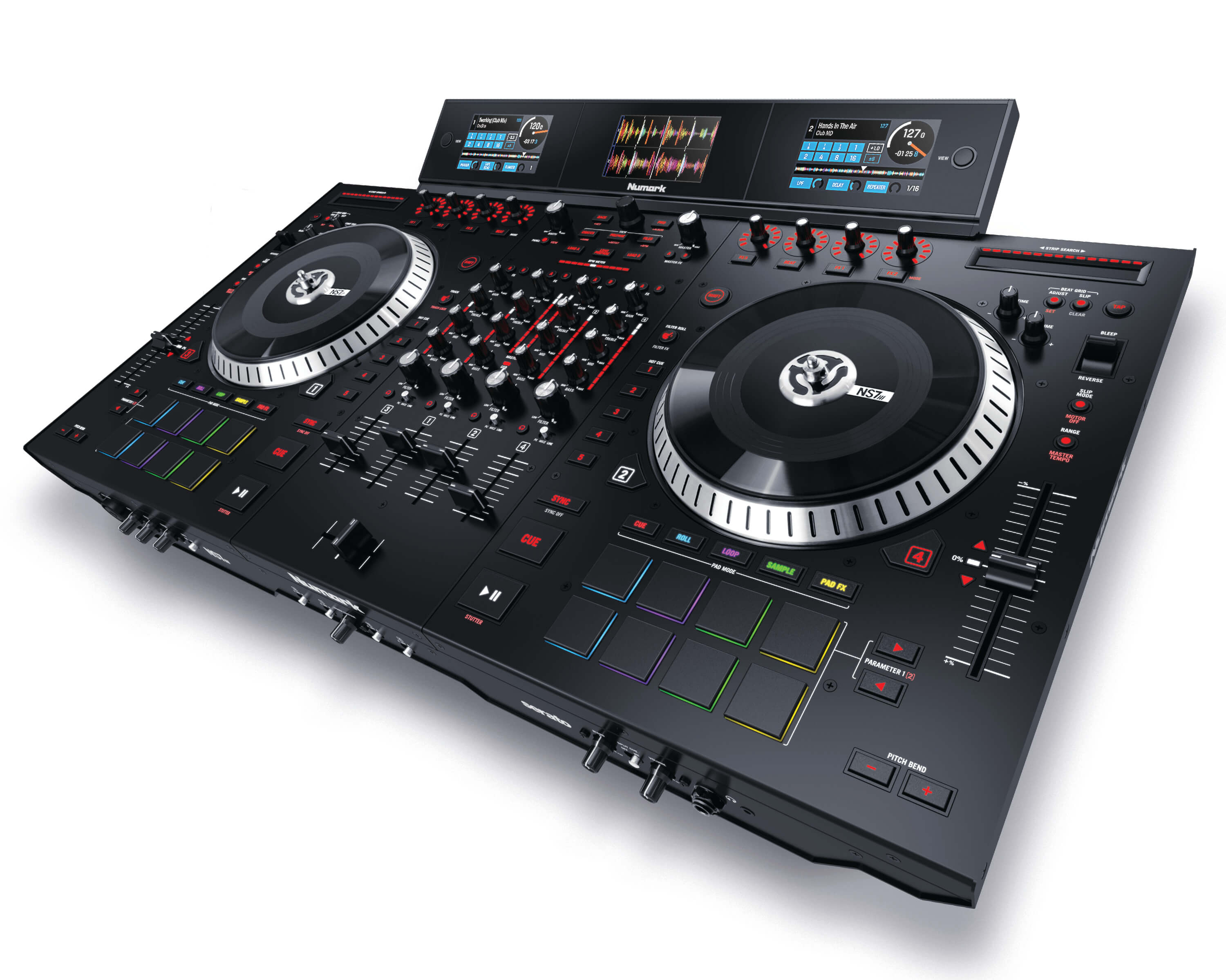 Numark NS7 III 4 Channel Motorized DJ Controller & Mixer With Screens