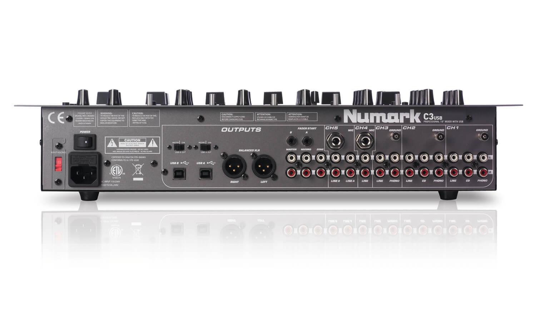Numark C3usb 5 Channel Mobile Dj Rack Mixer With Usb I O Hytek Portable Audio