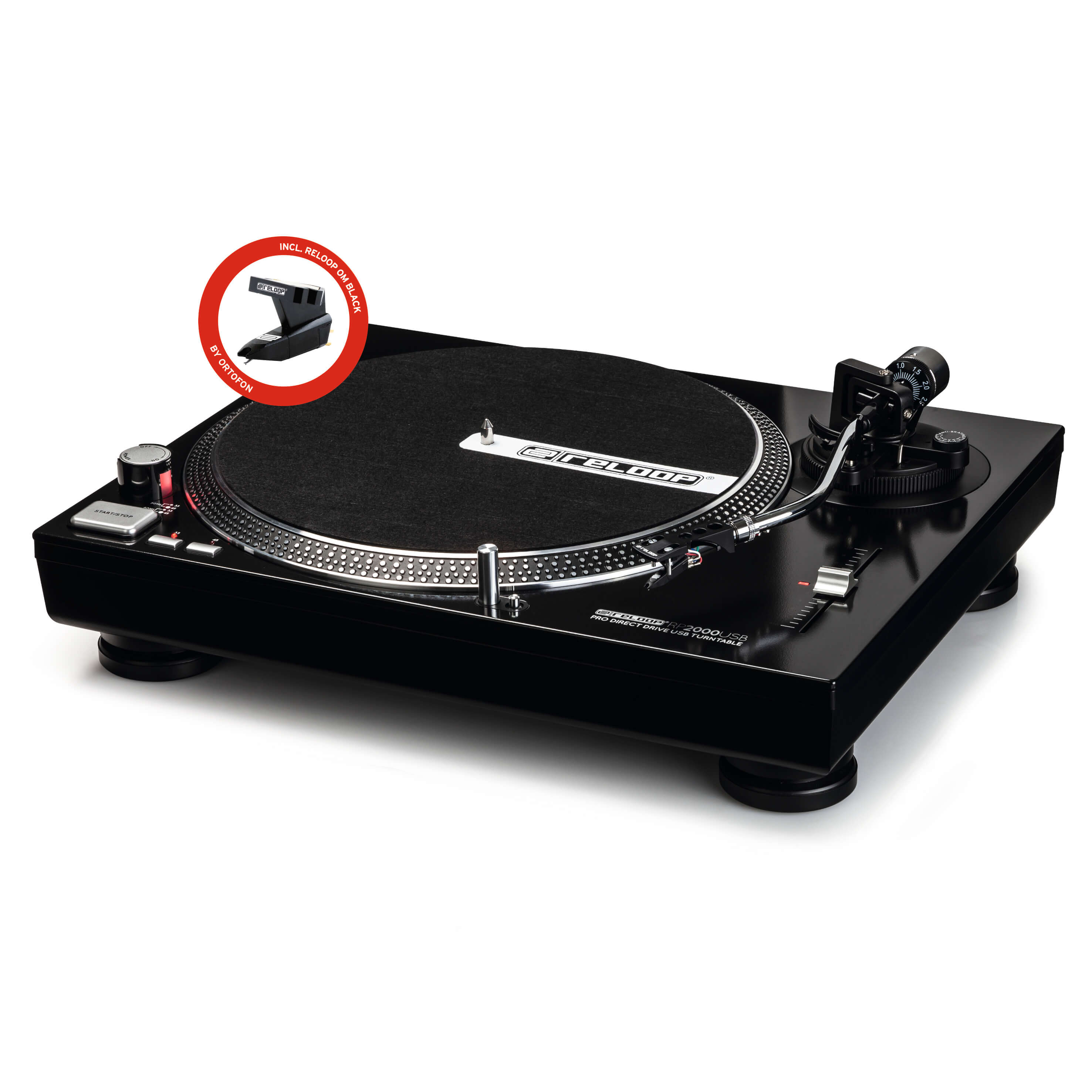 Reloop RP-2000 USB Direct Drive DJ Turntable With USB