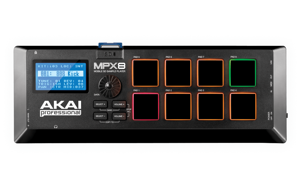 akai professional mpx8 mobile sd sample player hytek electronics. Black Bedroom Furniture Sets. Home Design Ideas