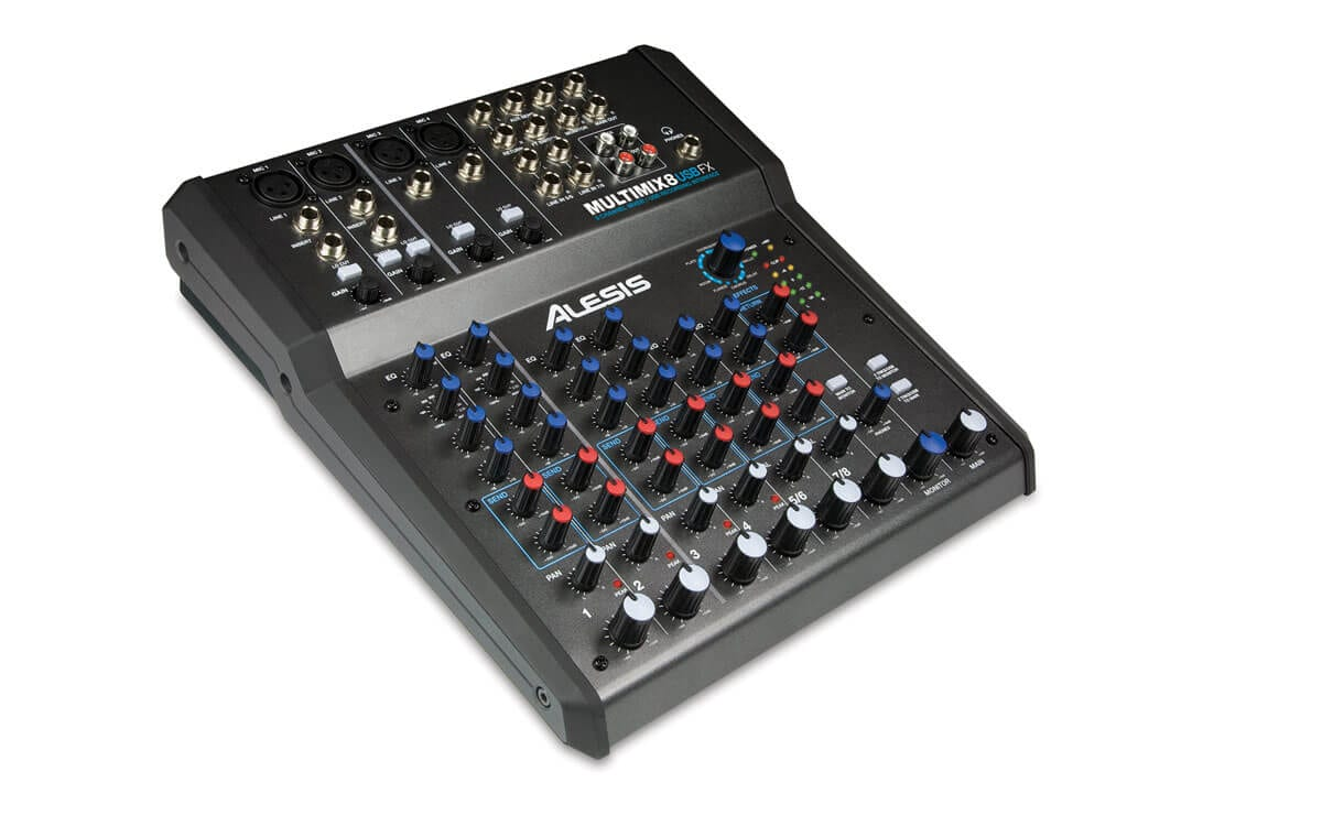 alesis multimix 8 usb fx 8 channel mixer with effects usb audio interface hytek electronics. Black Bedroom Furniture Sets. Home Design Ideas