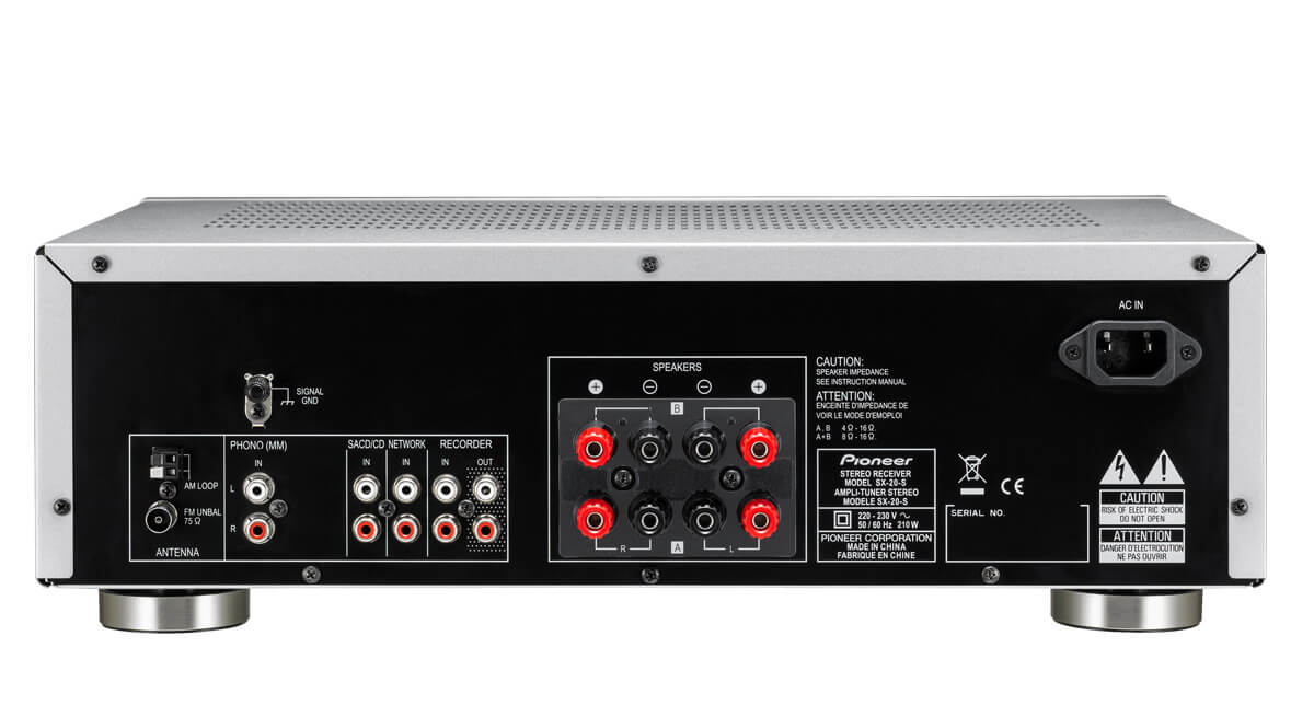 Pioneer Sx 20 200w Stereo Receiver With Fm Am Tuner And Phono Mm 70w Amplifier Input