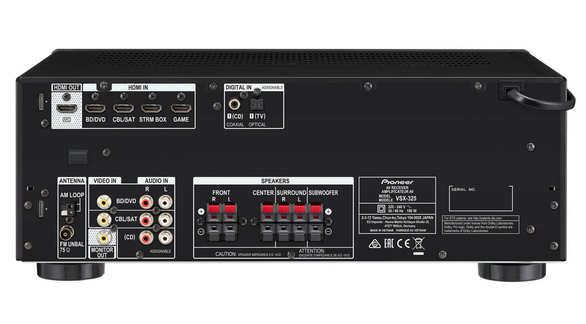 how to connect pa speakers to av receiver