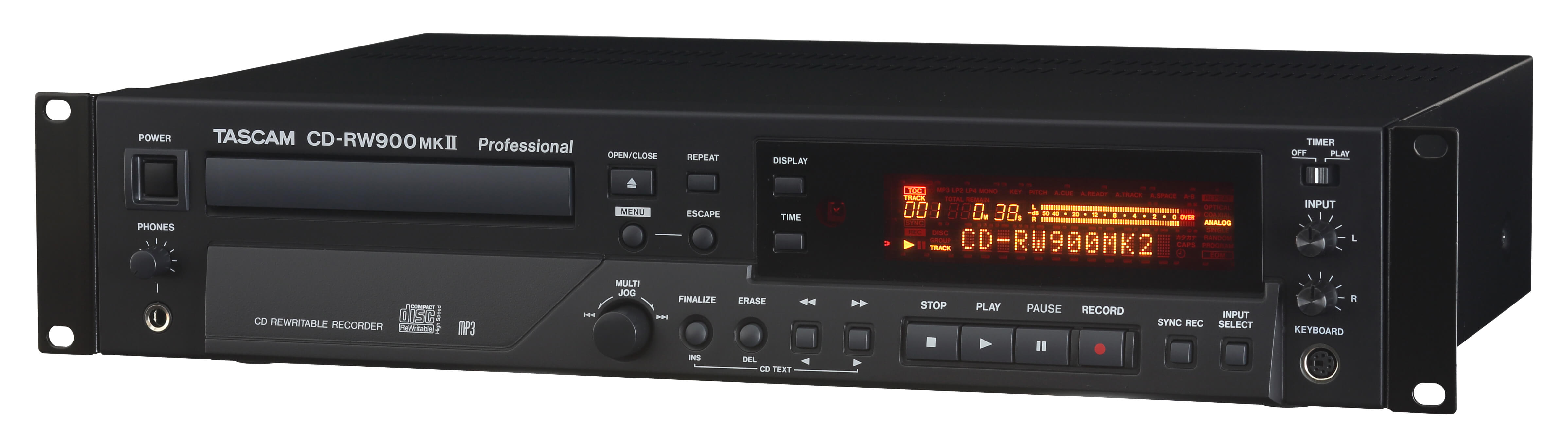 Tascam Cd Rw900mkii Professional Cd Recorder Player