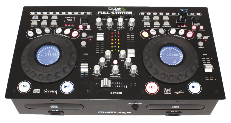 Ibiza Sound FULL-STATION Professional Twin CD/USB/SD Mixing Console