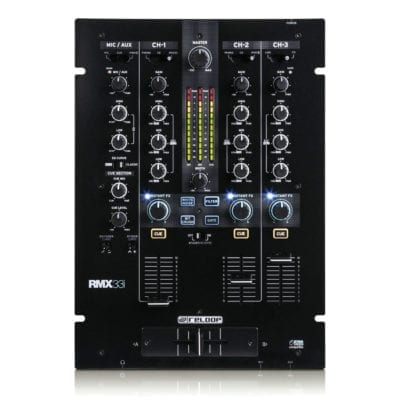 Reloop RMX-33i Professional 3+1 Channel DJ Mixer With Digital Audio